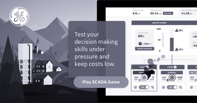 Water Town SCADA Game